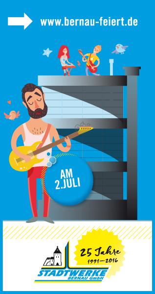 Bernau: Am 2. Juli lockt der Bernauer Energieversorger mit Attraktionen für Groß und Klein – die Geburtstagsparty ist der Dank an Kunden und alle Bürger für Vertrauen und Treue