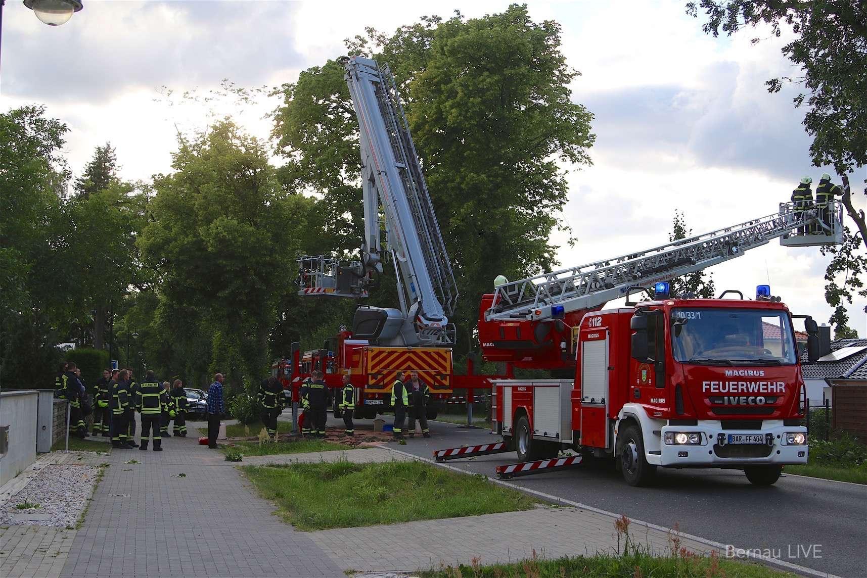 Wenn die Feuerwehr Bernau selbst einmal Hilfe braucht