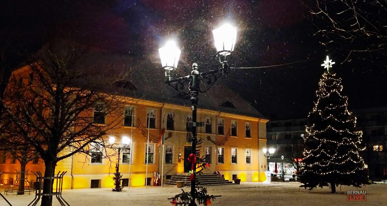 Bernau: Winter am Bernauer Marktplatz - Euch einen schönen Abend