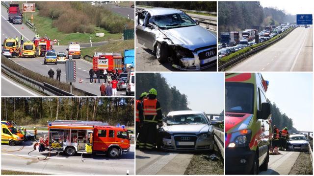 Nachtrag Unfall A11 - offizieller Bericht der Feuerwehr Bernau -