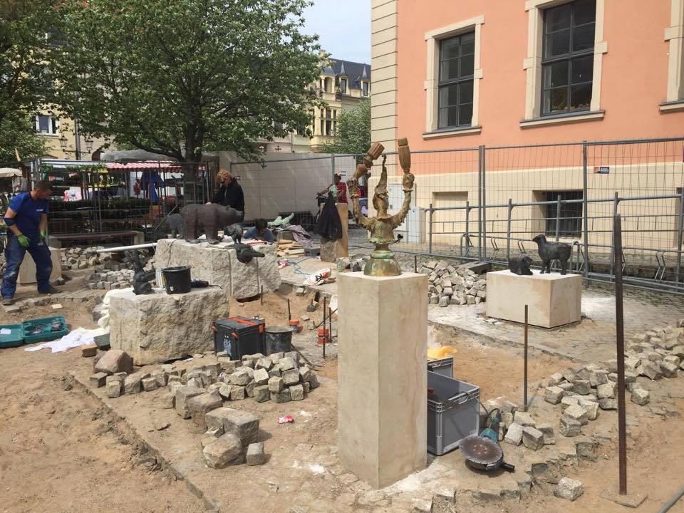 Bernau: Neuer Stadtbrunnen noch vor dem Hussitenfest Bernau