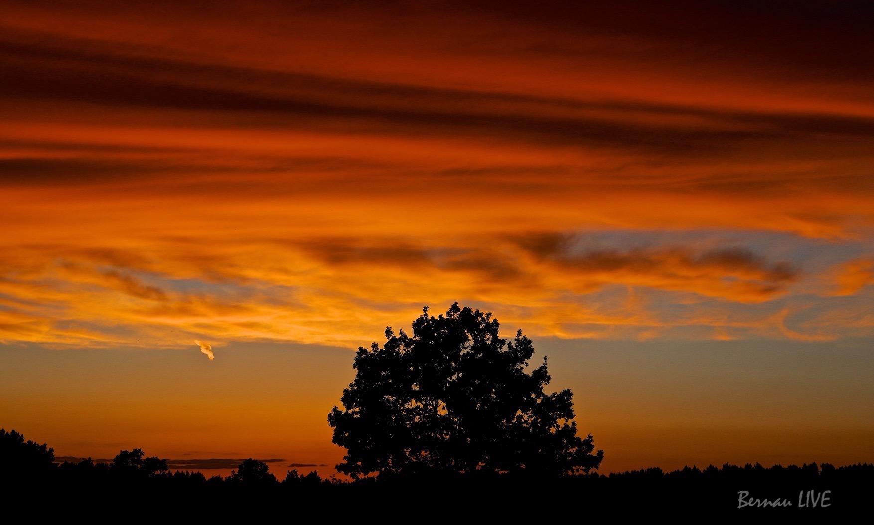 Bernau: Kurz nach dem Sonnenuntergang