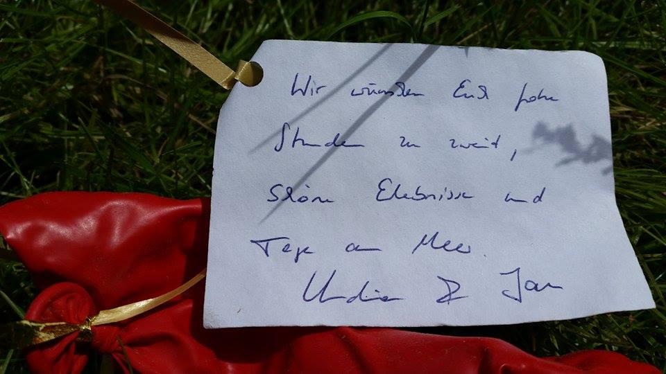 Photo of Bernau LOVE: Hochzeits – Luftballon in Börnicke gefunden