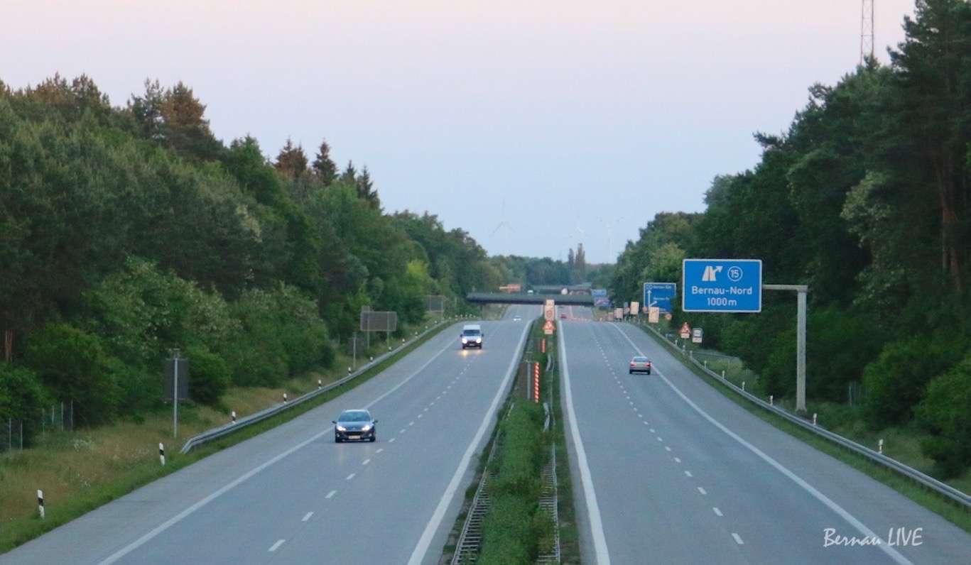 Autobahnauffahrt Bernau - NORD ab etwa 17 Uhr wieder frei!