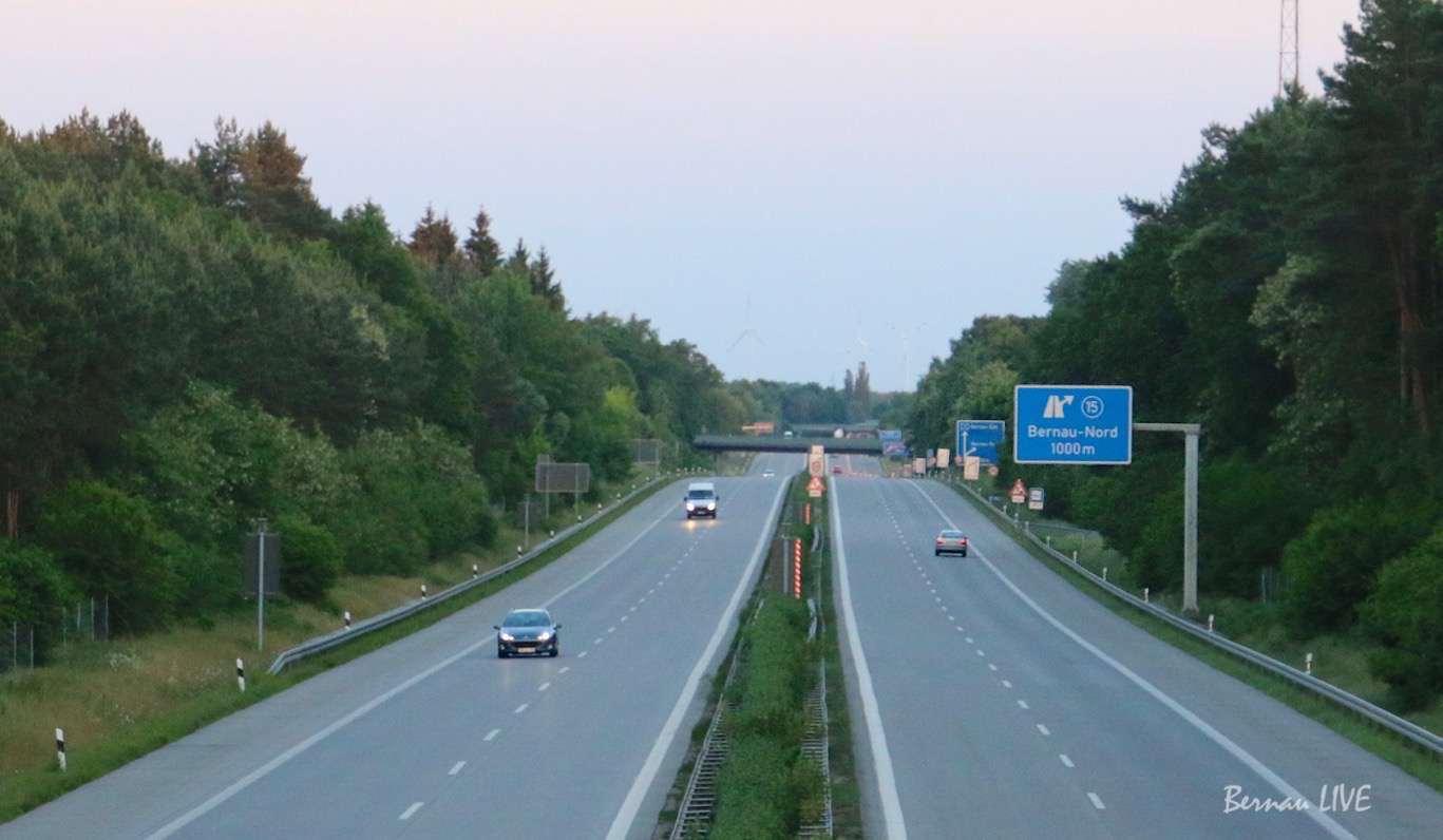 Verkehr Barnim, A10, Autobahn, Verkehr, Bernau, Strassenbau, Bernau LIVE