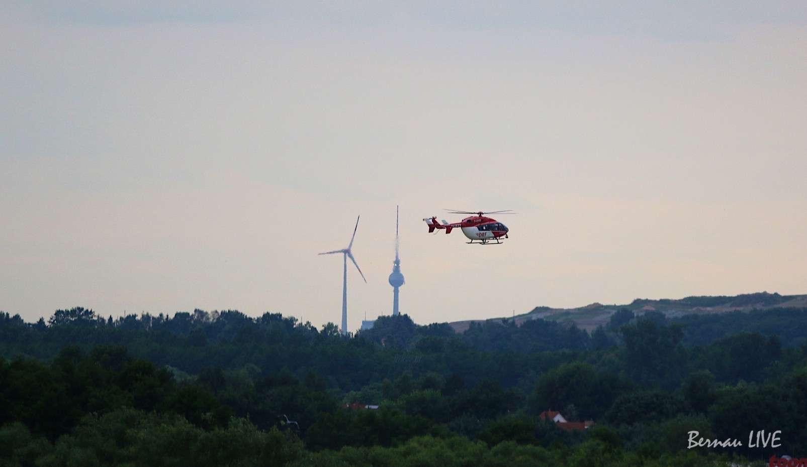 Bernau, Verkehrsunfall, Christoph Berlin, Feuerwehr, Polizei