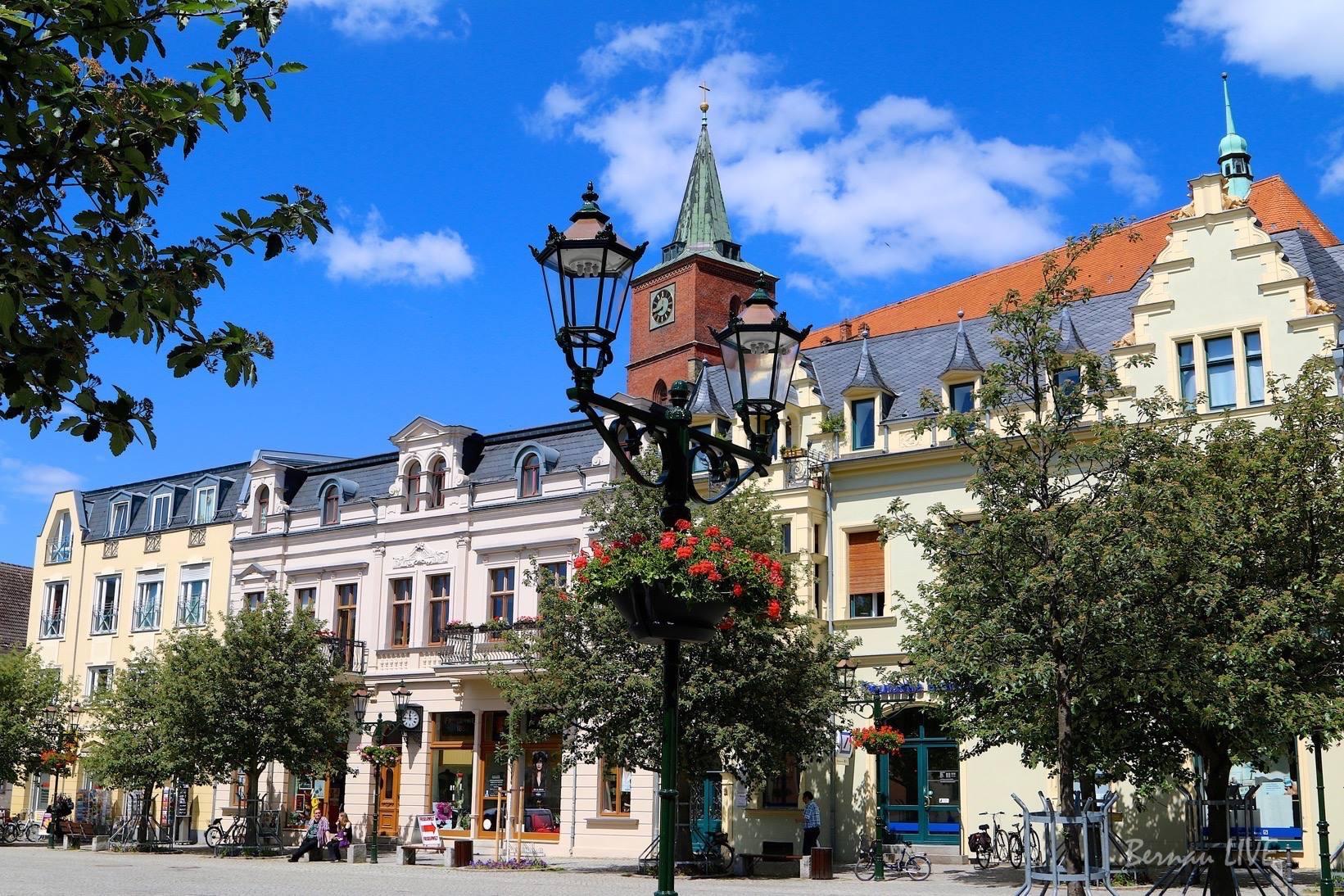 Bernau, Bernau bei Berlin, Barnim, Bernau LIVE, Sommer, Stadt Bernau, Marktplatz Bernau, Sonne