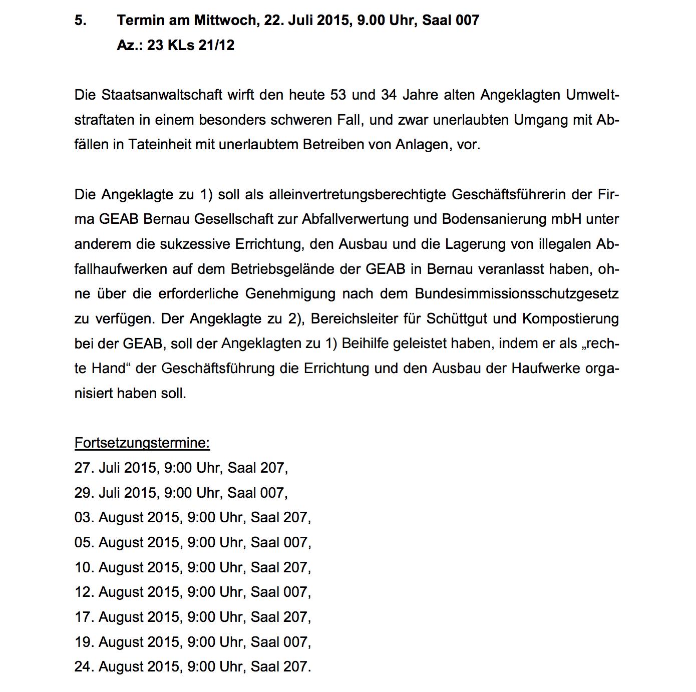 Bernau: Nach Urteil - Bleibt Bernau auf dem Müll sitzen? • Bernau LIVE