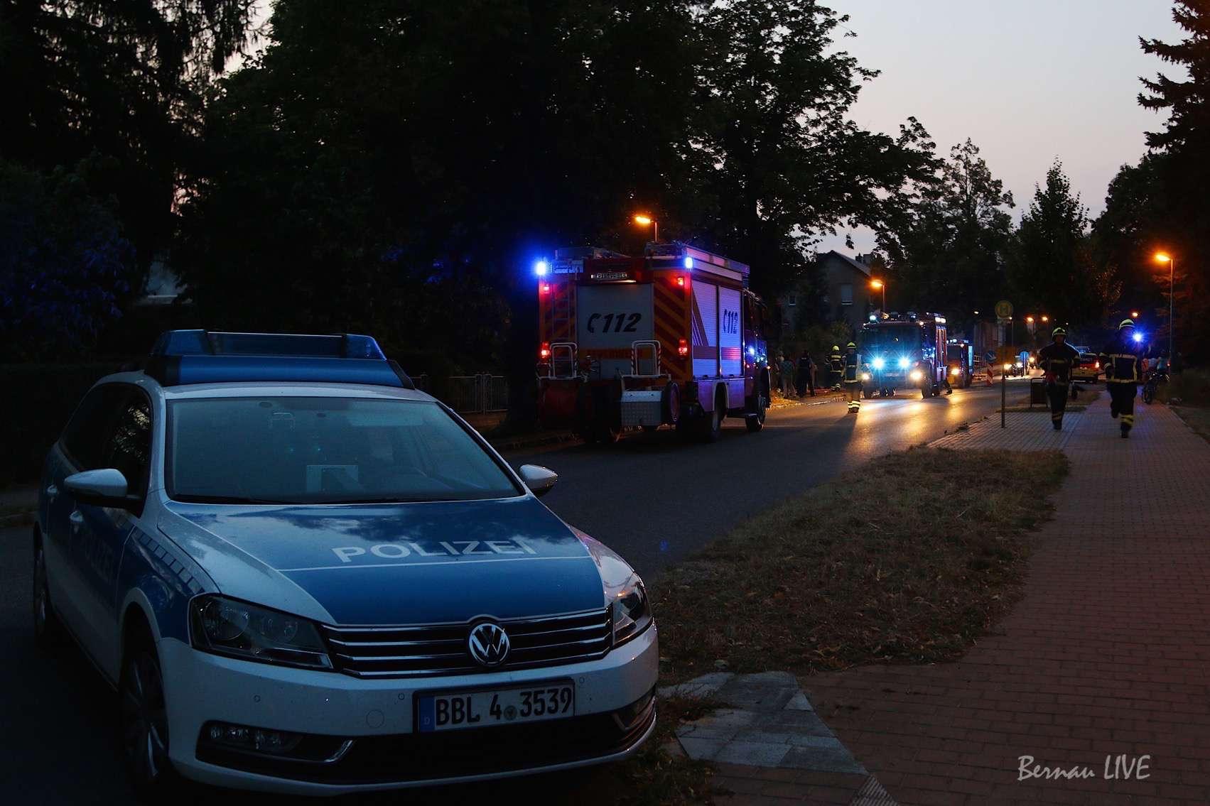 Bernau: Vermeintlicher Grossbrand in Ladeburg - Eberswalde