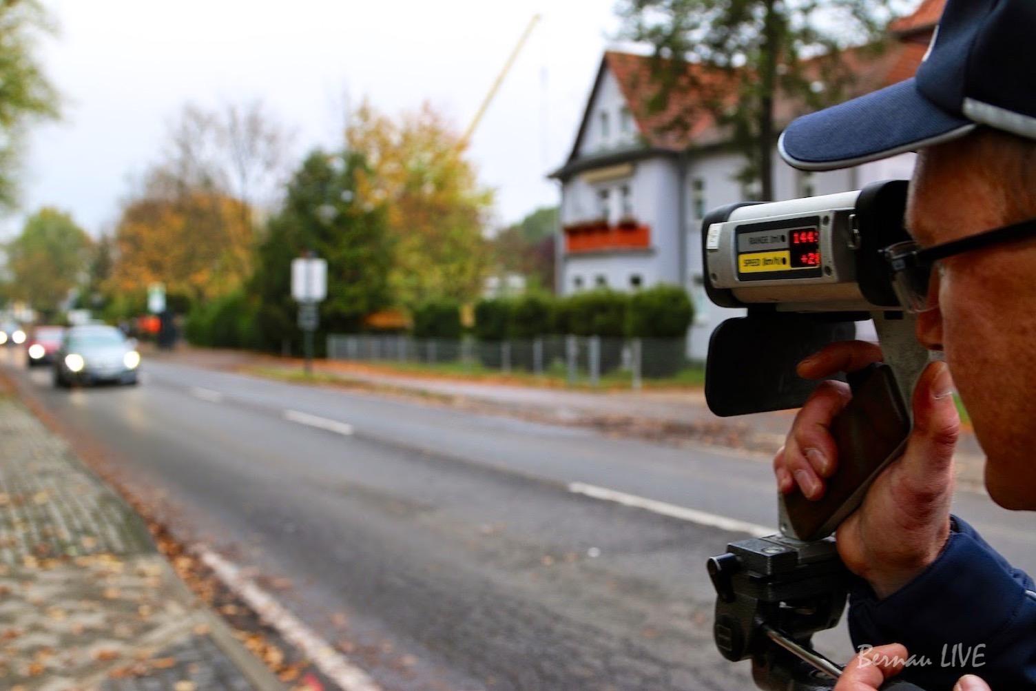 Bernau/Brandenburg: Verstärkte Geschwindigkeitskontrollen