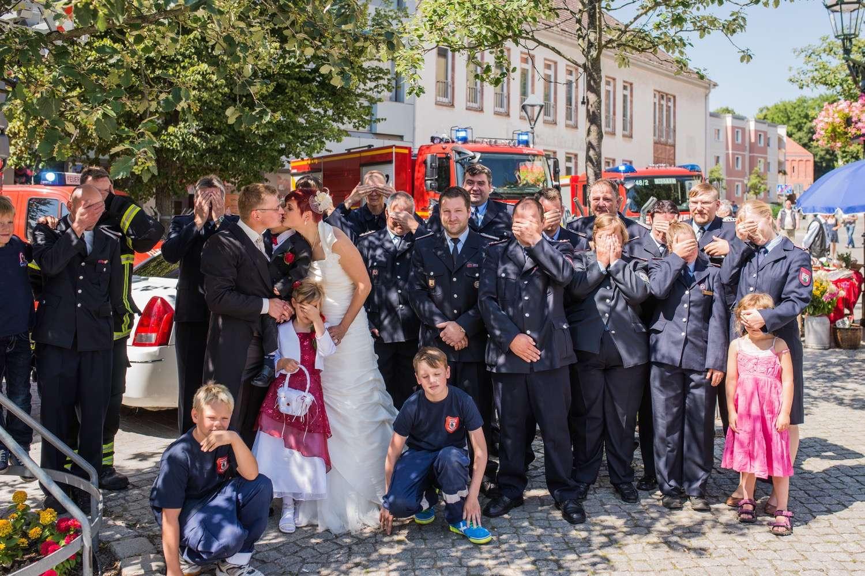 Feuerwehr Hochzeit Bernau Mandy Und Axel Sagen Danke Bernau Live
