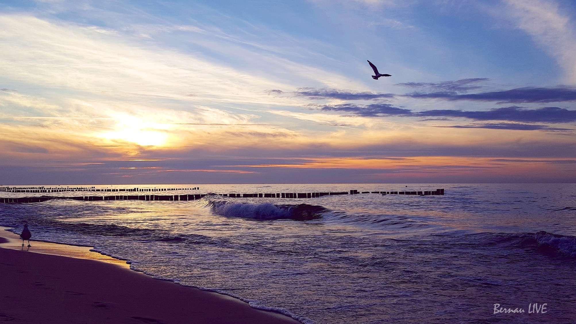 Ostsee, Kühlungsborn, Bernau LIVE, Natur, Sommer, Abend, Sonnenuntergang, Bernau LIVE, Meer, Wasser