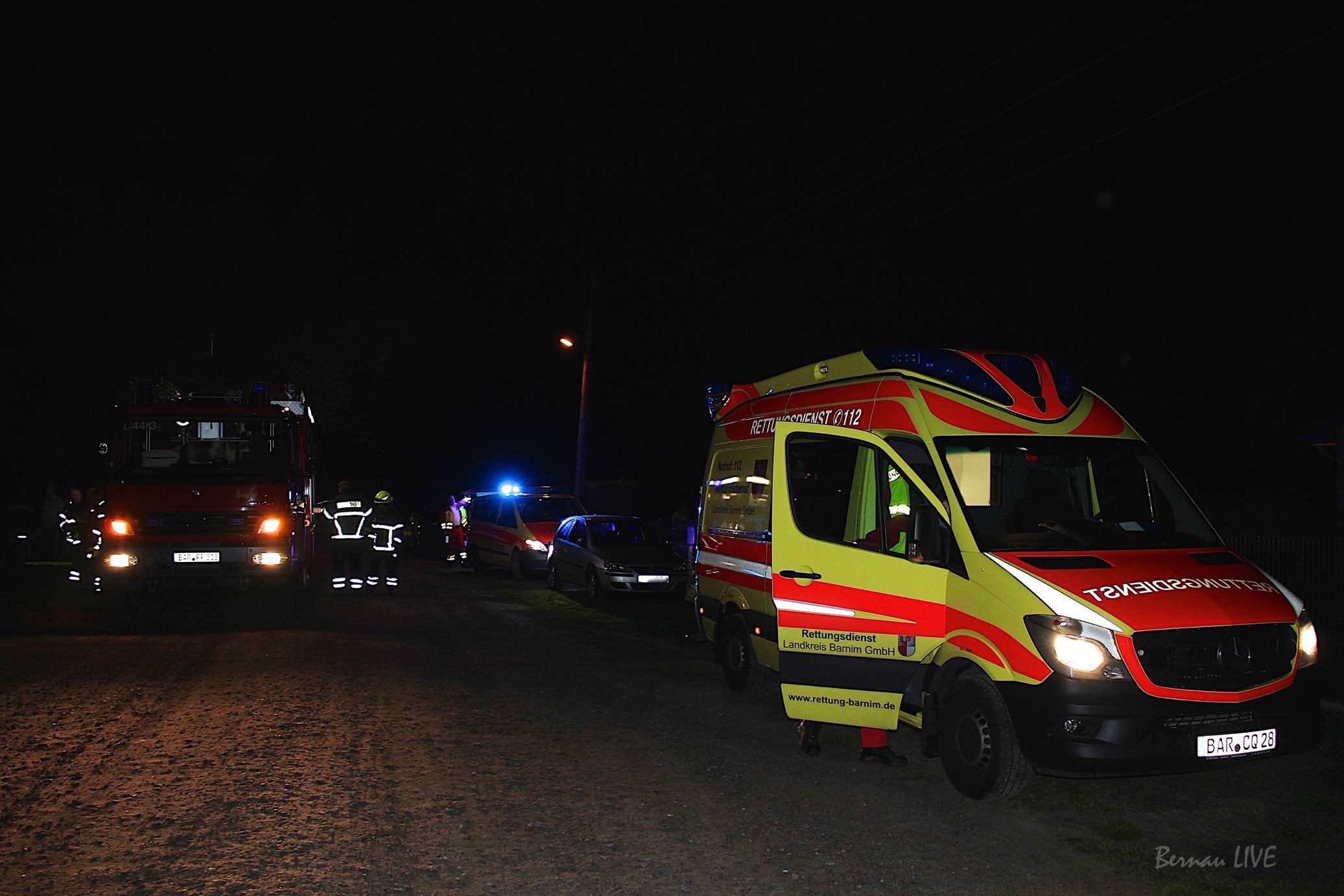 Photo of Abendlicher Feuerwehreinsatz in Bernau-Niebelungen