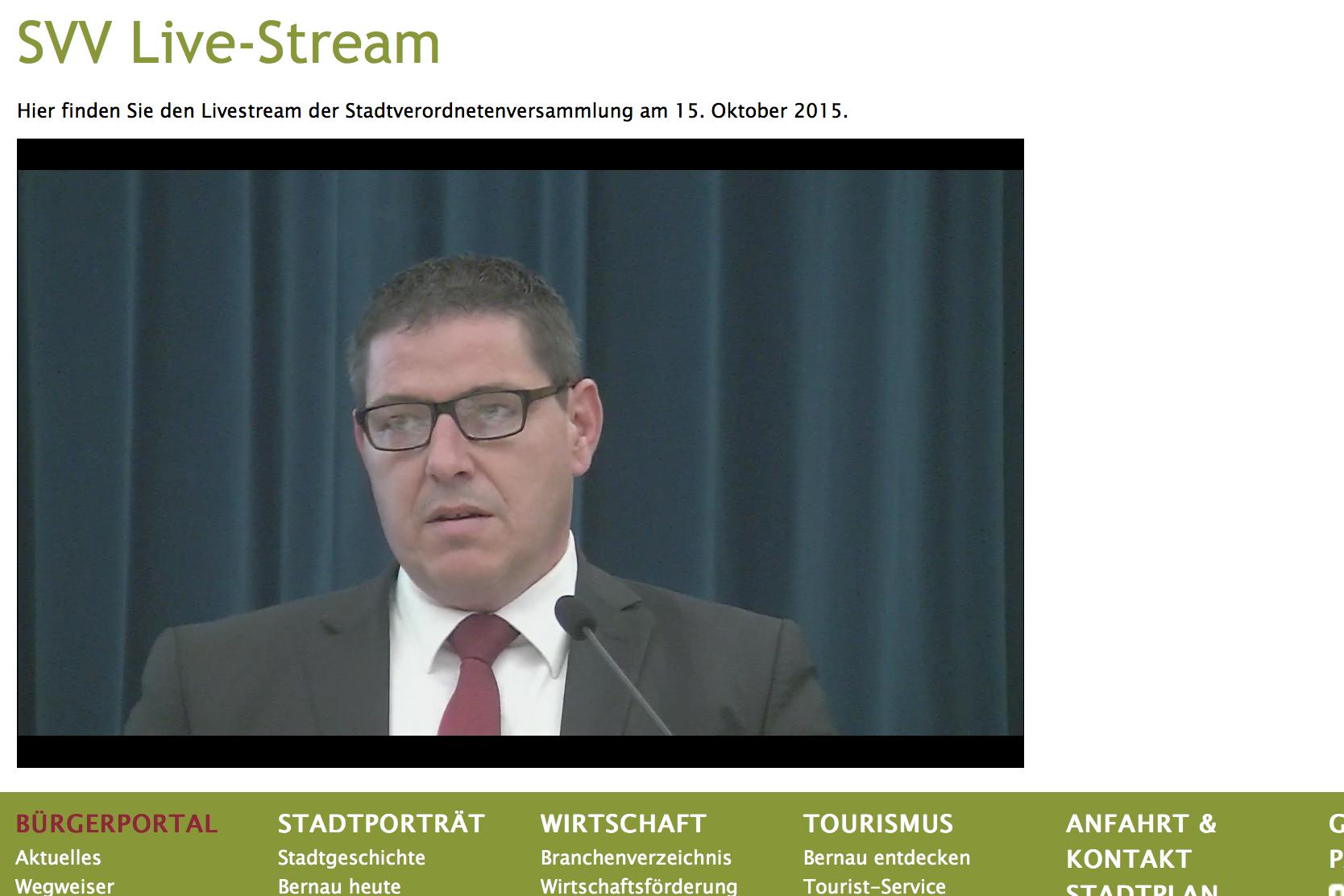 Bernau: Stadtverordnetenversammlung - LIVE-Übertragung