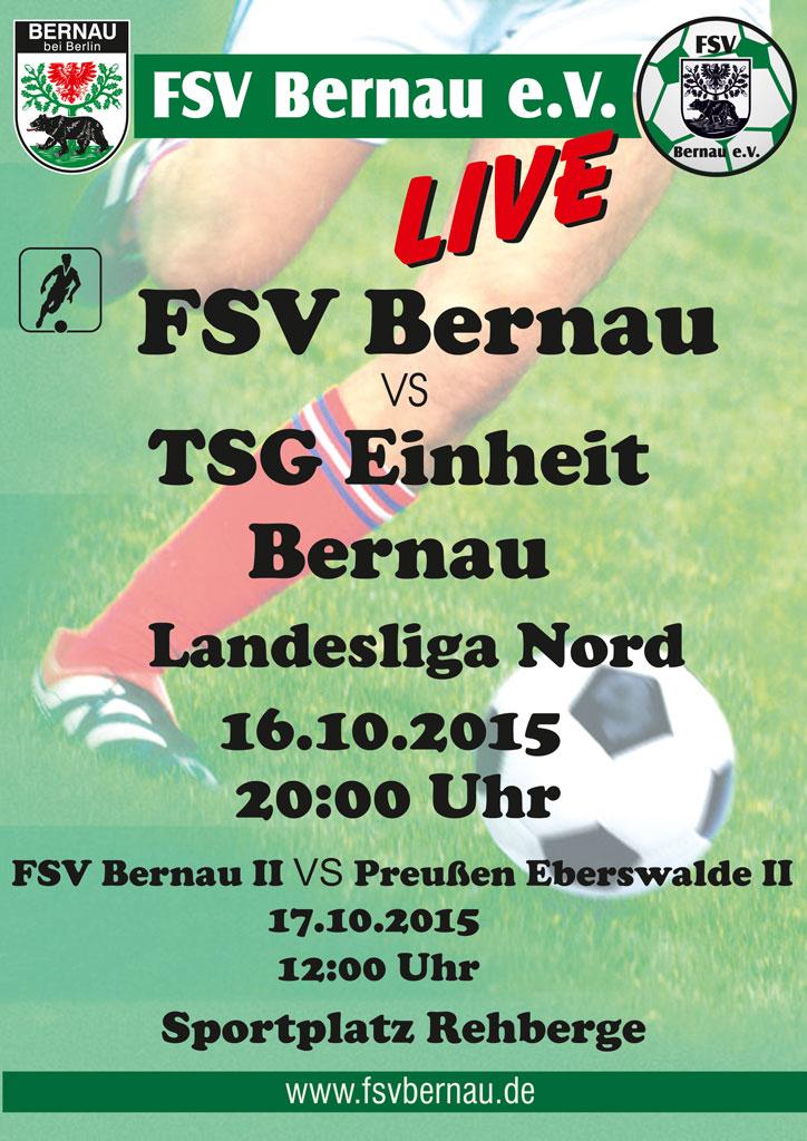 FSV Bernau e.V. gegen TSG Einheit Bernau - Freikarten!