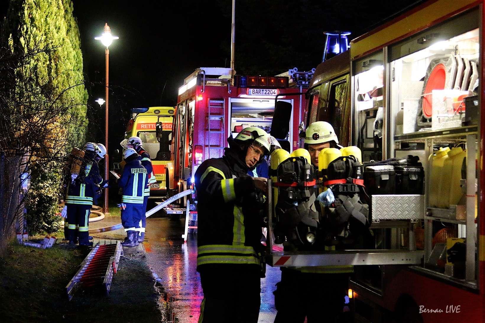 Brand - Feuerwehr Biesenthal - Wullwinkel