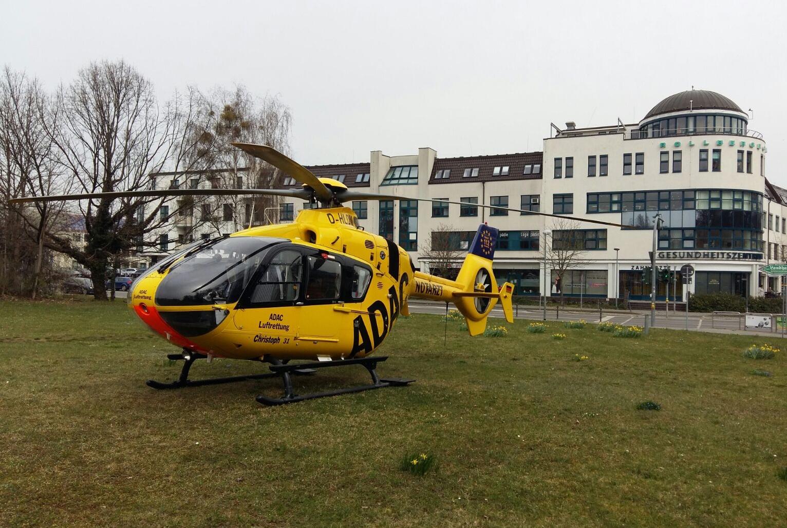 Photo of Rettungshubschrauber-Stau am Immanuel Klinikum Bernau