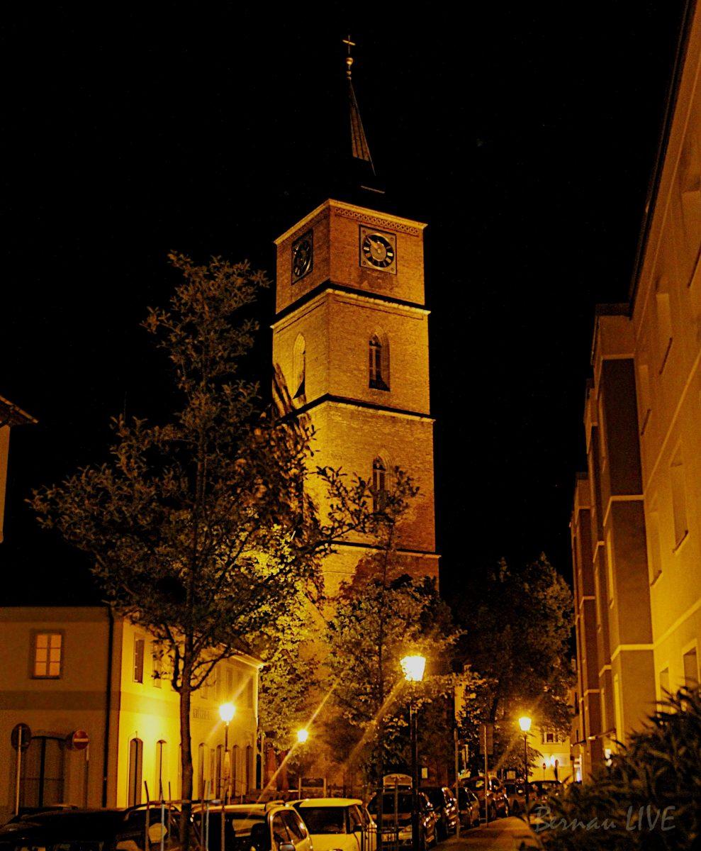 Bernau: Nacht der offenen Kirchen - St. Marien Kirche bei Nacht