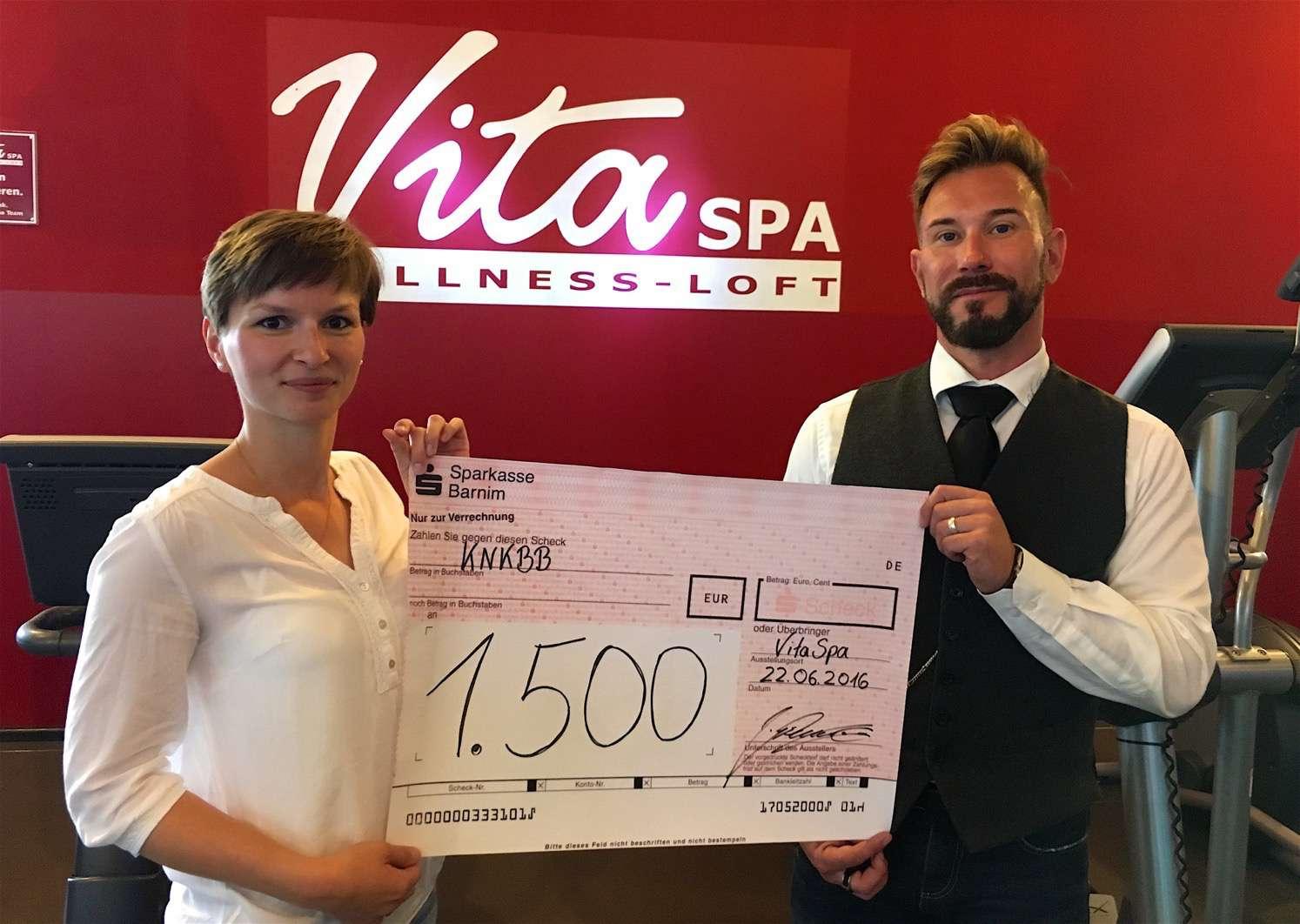 Vita Spa Bernau - 1500 Euro für die Kindernachsorgeklinik