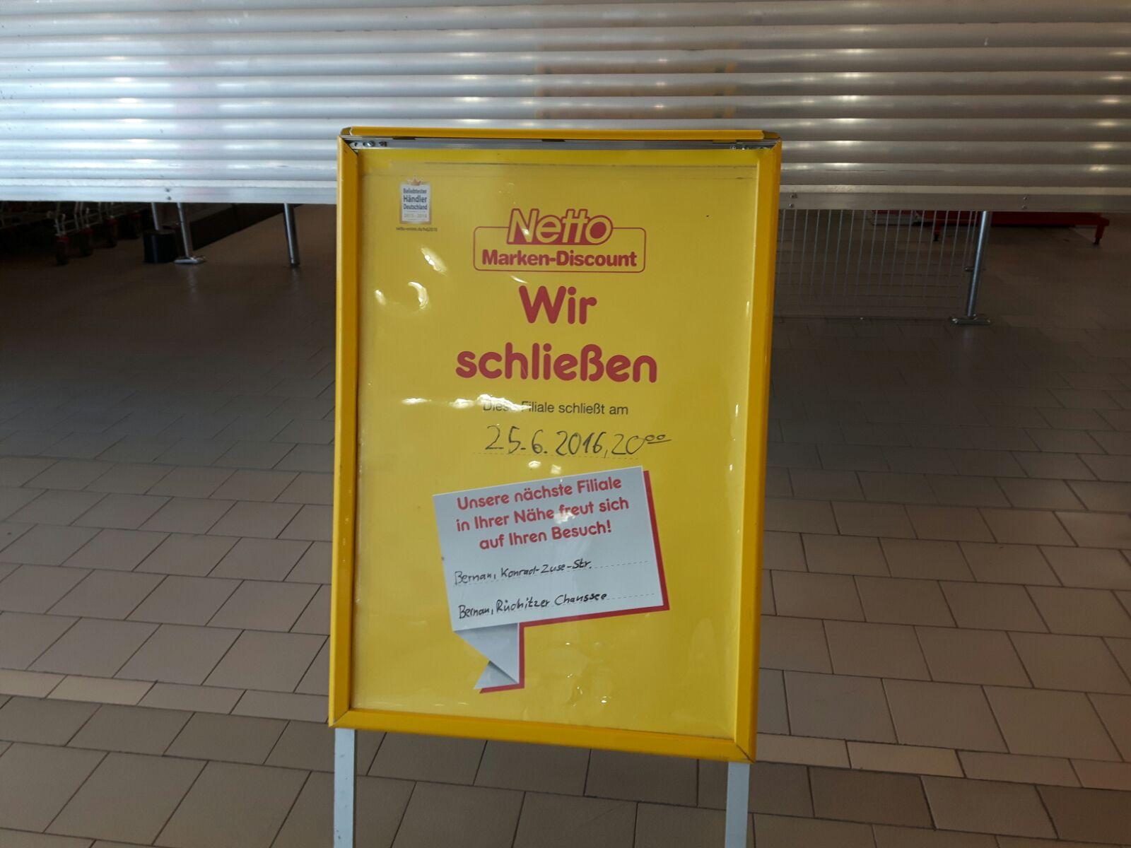 Bernau: NETTO ist dann mal weg - und kommt wieder in SÜD