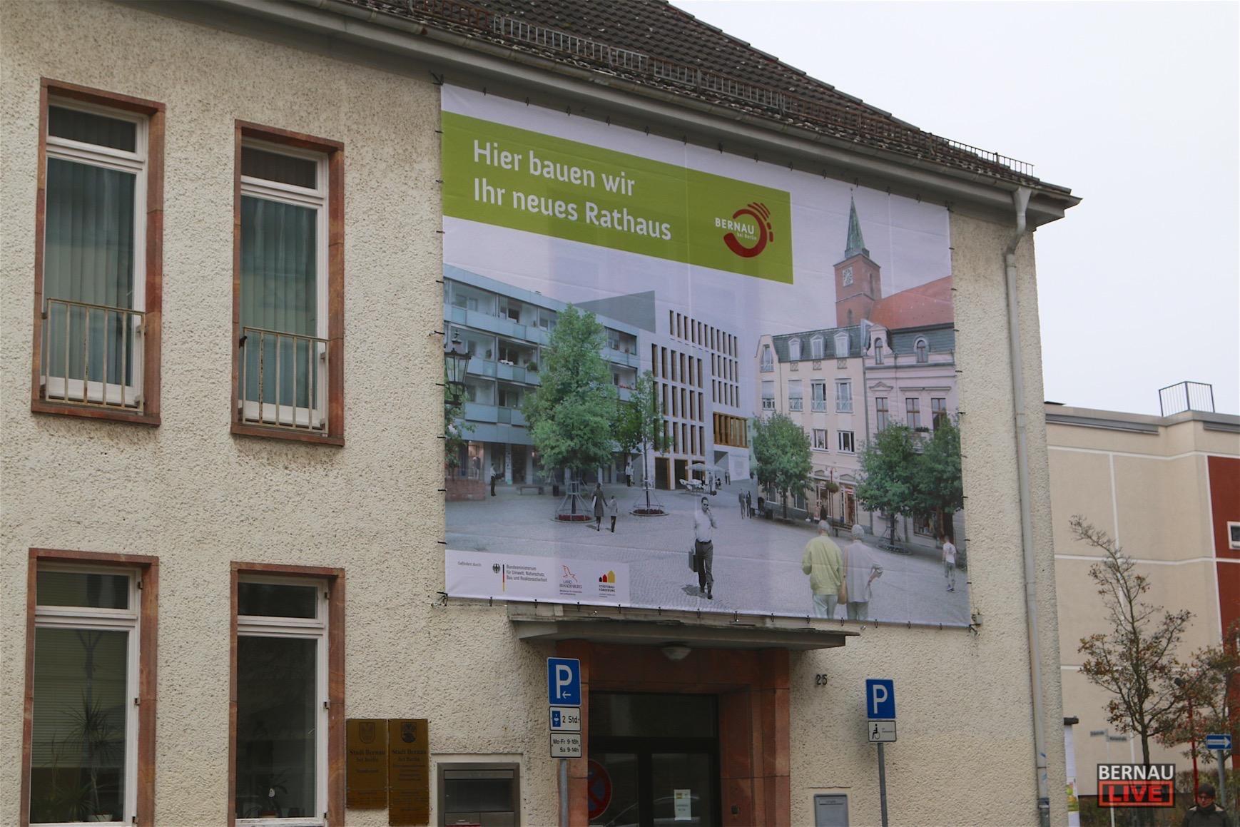 Rathausneubau Bernau - Ämter ziehen vom 03.-11. Juli 2017 um
