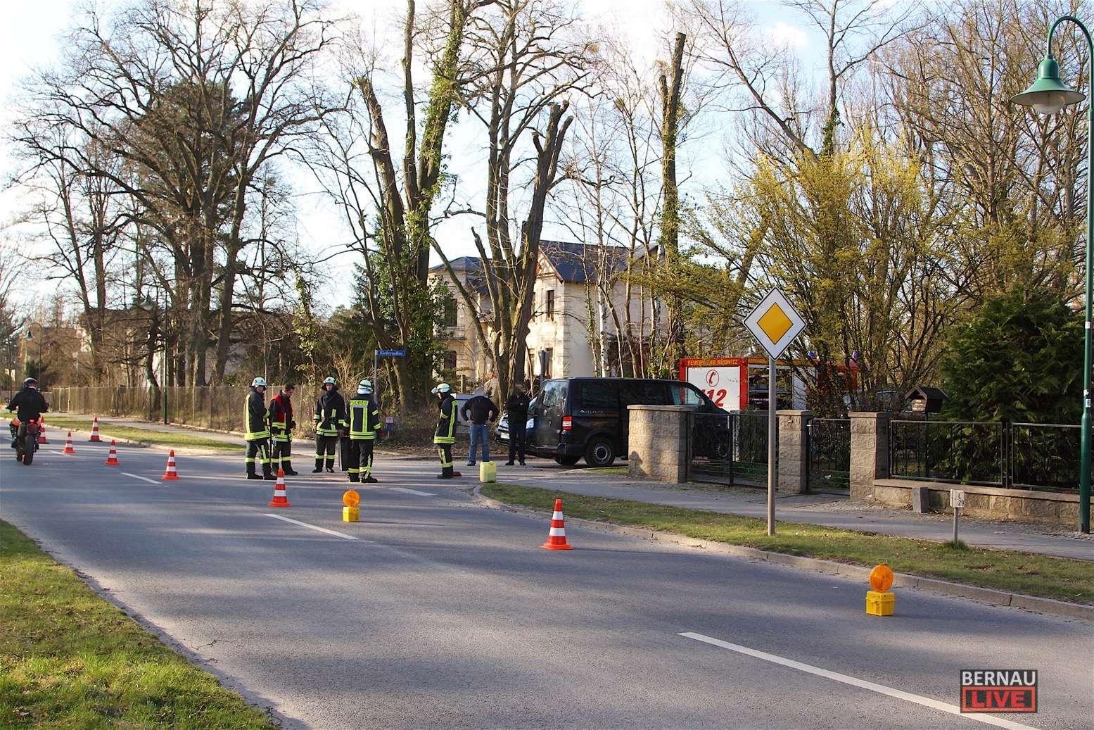 Schwerer Motorradunfall in der Bahnhofstraße in Biesenthal