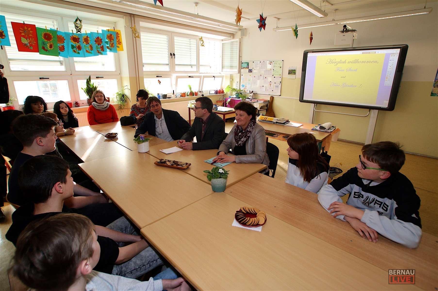 Landtagspräsidentin Britta Stark drückte die Schulbank in Bernau