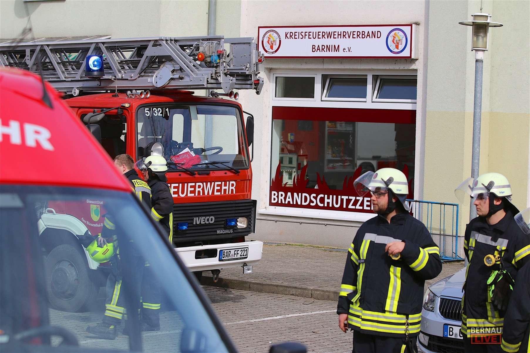Biesenthal: Feuer beim Kreisfeuerwehrverband Barnim e.V.