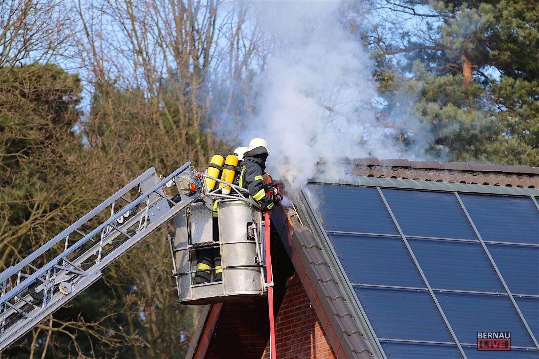 Biesenthal: Feuerwehr verhindert Brand eines Einfamilienhauses