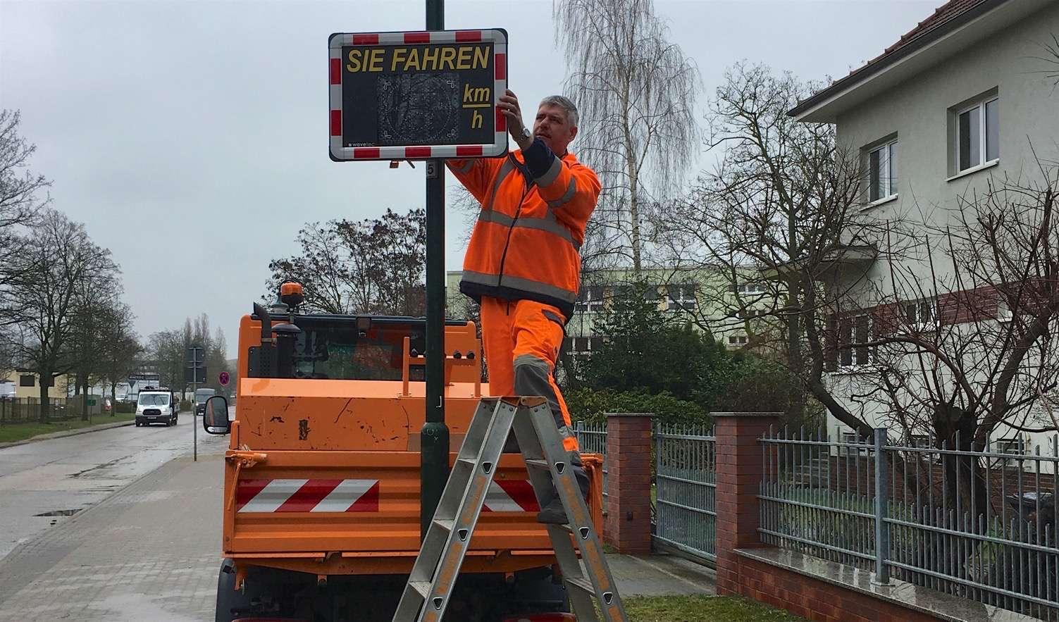 Mobile Geschwindigkeitsmessung im Stadtgebiet Bernau