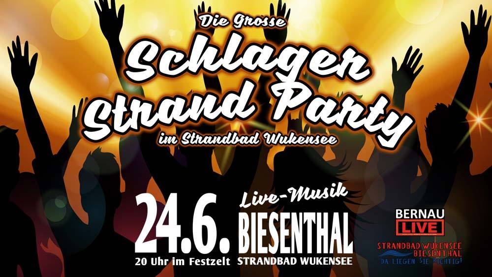 Schlager Strand Party am Wukensee