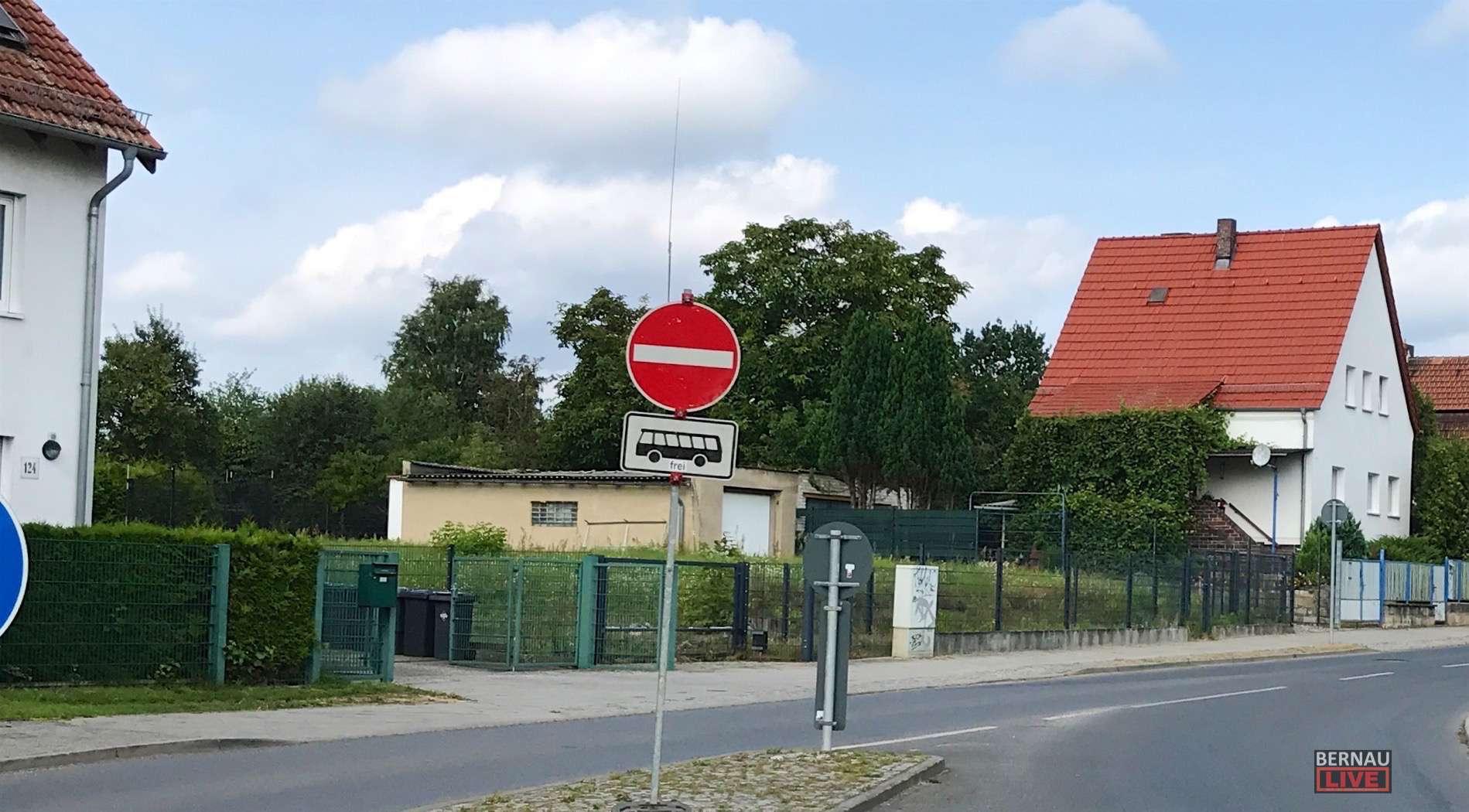 Nachtrag: Einfahrt Elbestraße von der Zepernicker Chaussee verboten