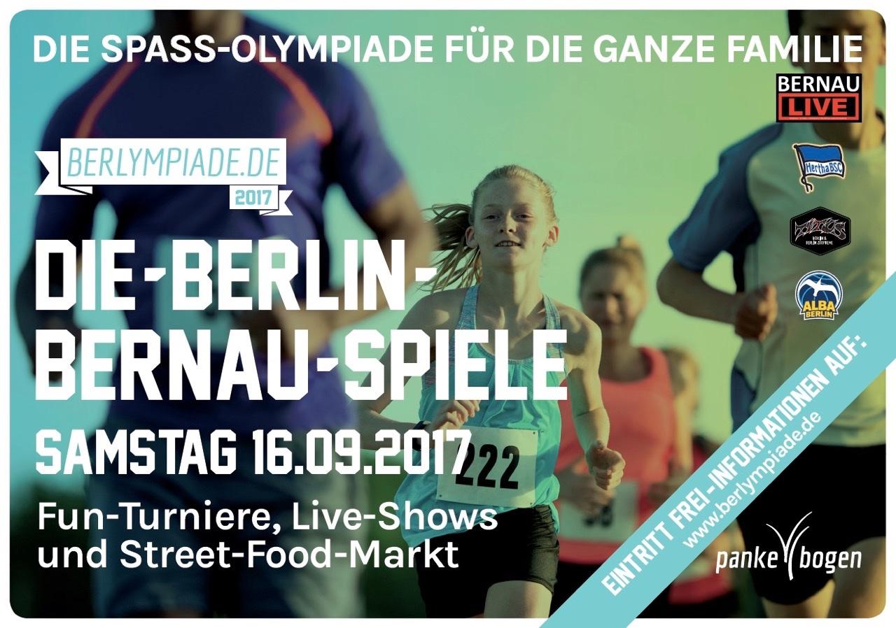 Die große Berlympiade steigt am 16. September in Bernau