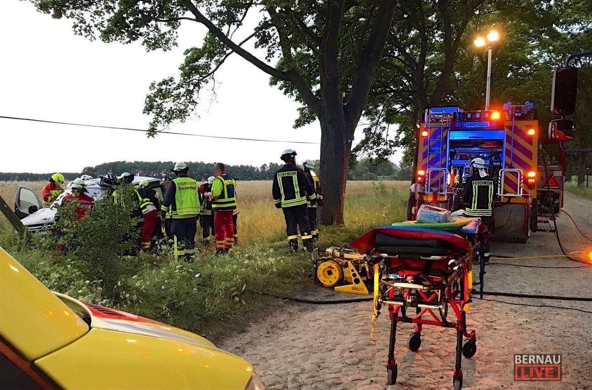 Schwerer Verkehrsunfall am Donnerstagabend in Biesenthal
