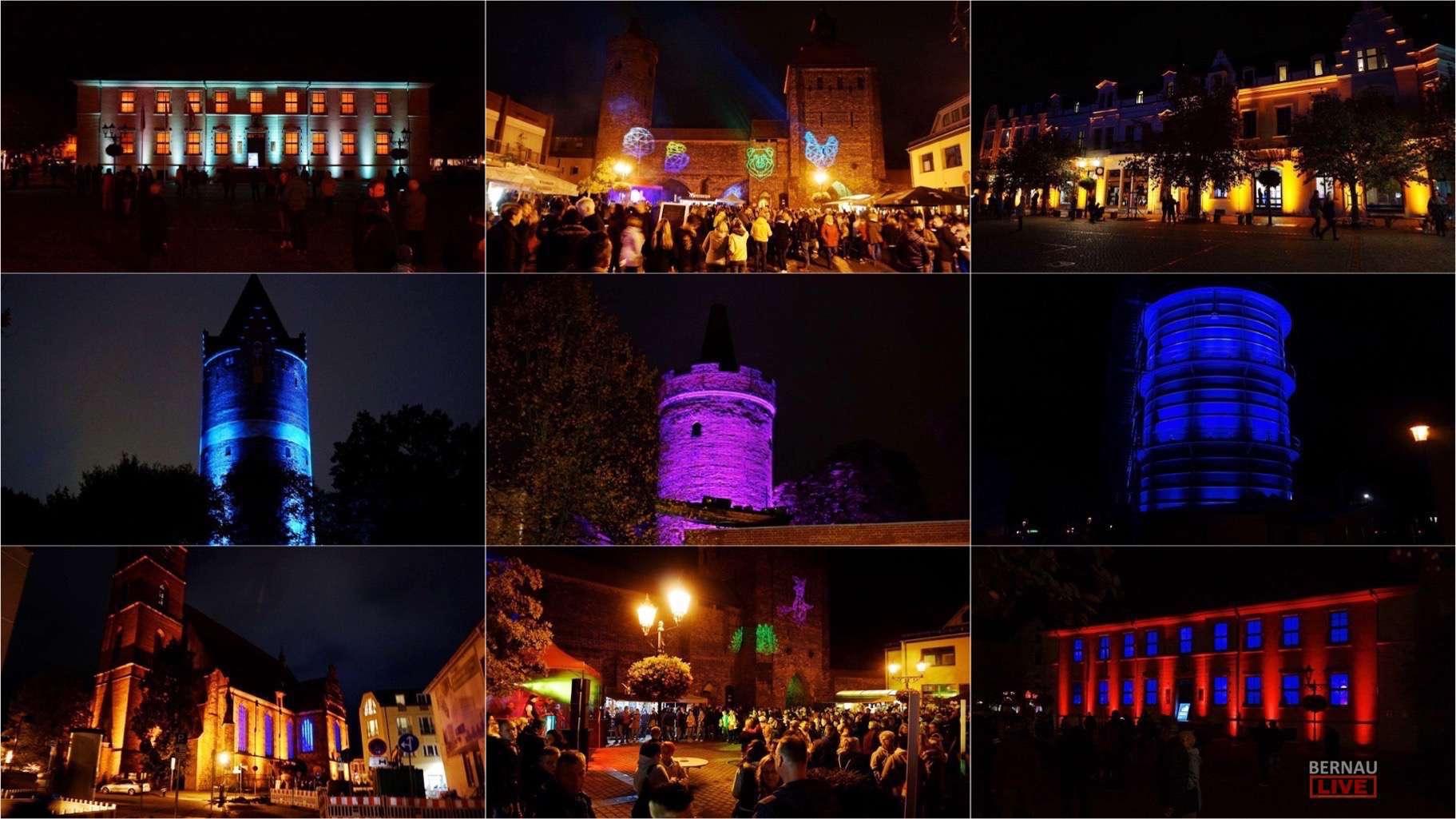 Bernau leuchtet, feiert und Lokaltourt - ohne Regen