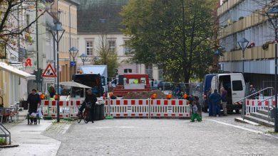 Bürgermeisterstraße: Fernwärmevorstreckung für den Rathausneubau