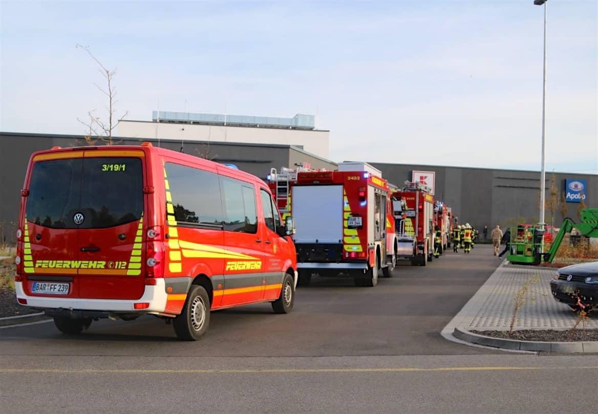 Feuerwehreinsatz im Kaufpark Eiche am Freitagmorgen
