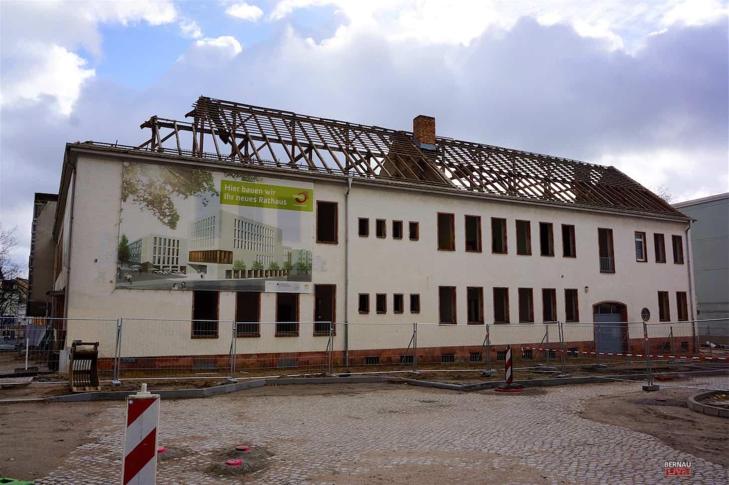 Bernau: Ab 06.11. wird das Gebäude Bürgermeisterstraße 25 abgerissen