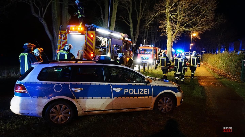 Großeinsatz der Feuerwehren in Rüdnitz (und Bernau)
