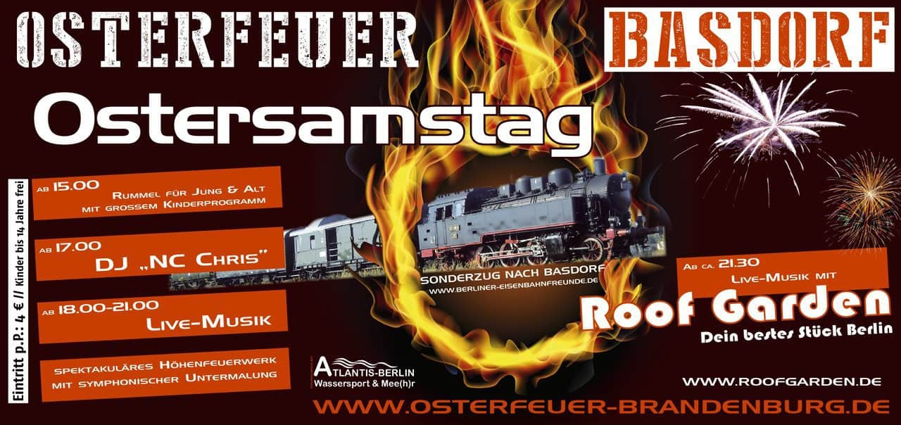 Osterfeuer 2018 in Basdorf