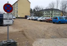Bernau: Bis Ende Juni Parkverbot auf dem Parkplatz am Gaskessel