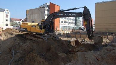 Start der Rohbauarbeiten für das neue Rathaus in Bernau bei Berlin
