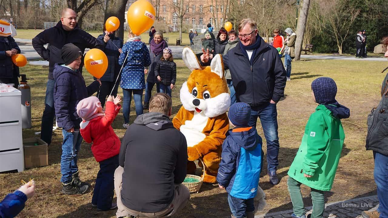 Stadtpark Bernau: Hier war heute der Osterhase der Star