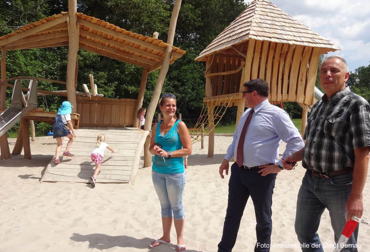 spielplatz in börnicke wurde neu gestaltet und an die kinder übergeben