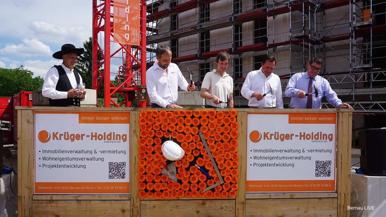 Richtfest für zahlreiche neue Wohnungen An der Viehtrift in Bernau