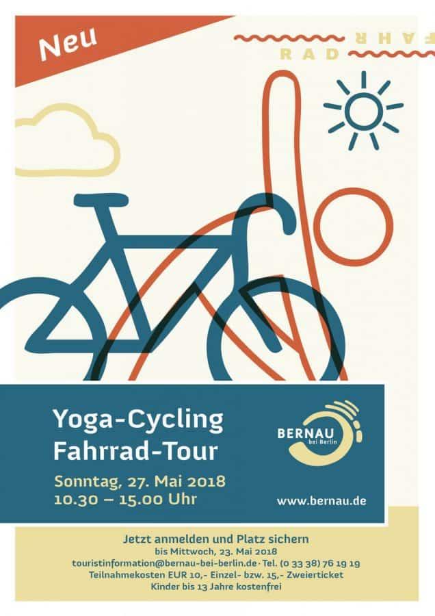 Einladung zur Yoga-Cycling-Rad-Tour der Stadt Bernau