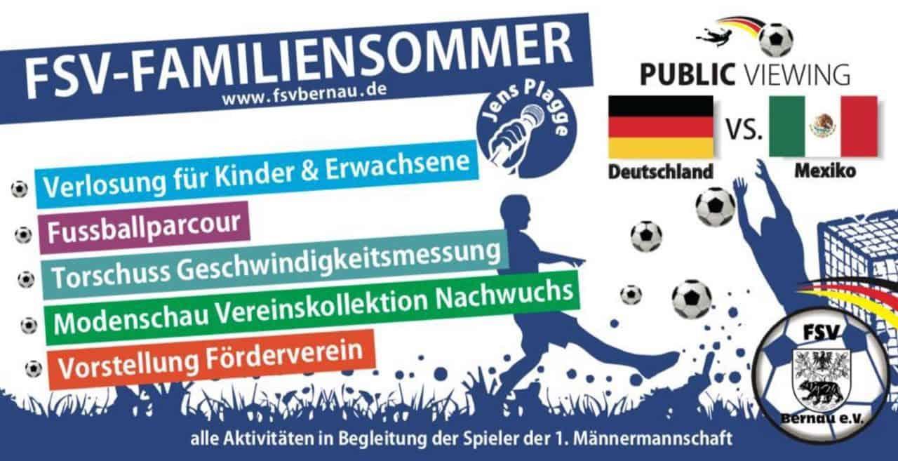 Der FSV Bernau lädt zum großen Fussball - Familiensommer