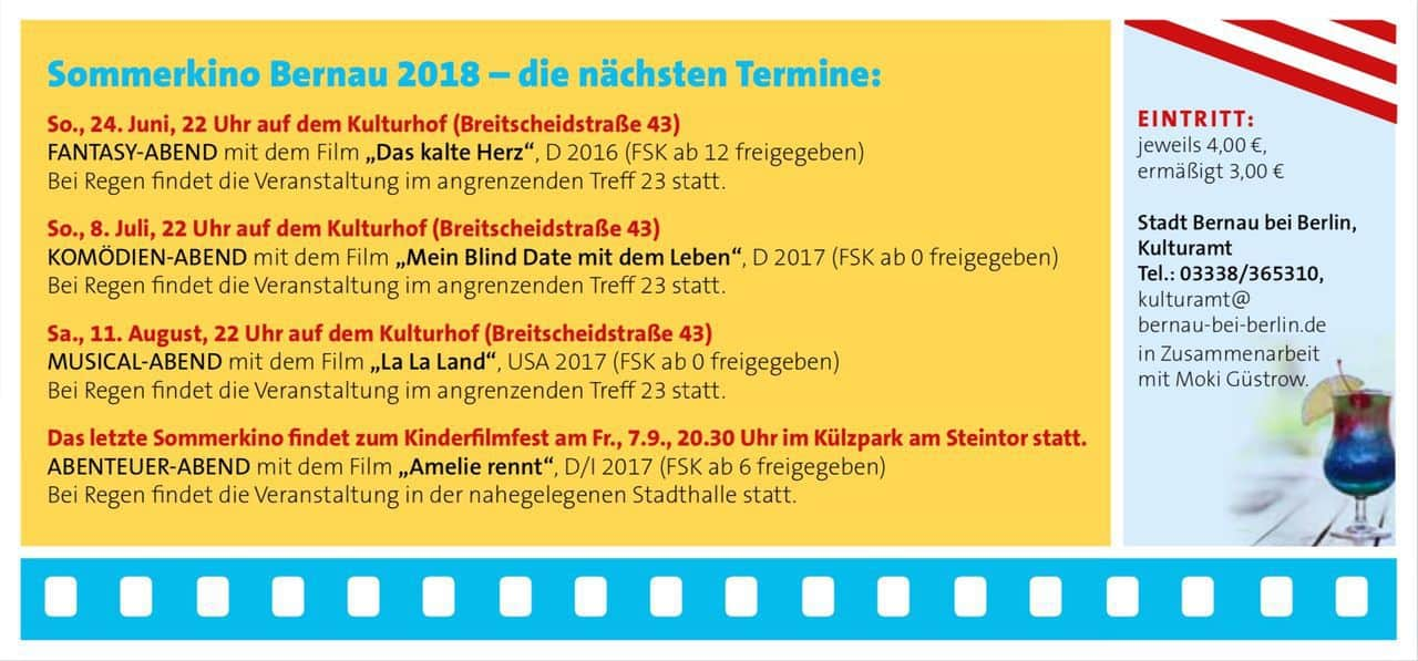 Sommerkino in Bernau