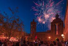 Grandioses Feuerwerk am Eröffnungstag des Hussitenfest Bernau