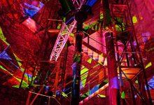 Siebenklang: Musik und Licht füllten den Wasserturm in Bernau